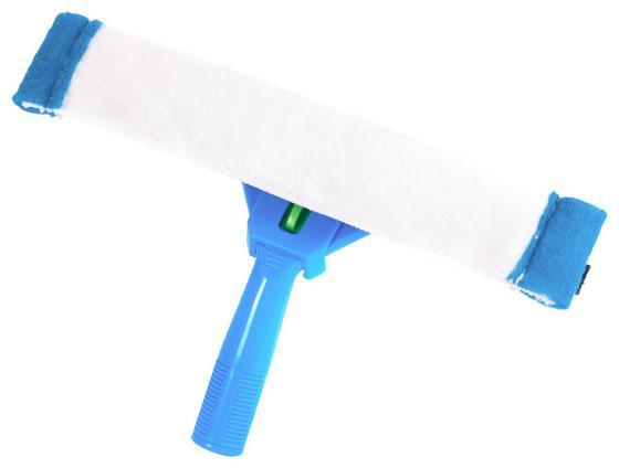 Fensterwischer Premium Set - Blau/Weiß, KONVENTIONELL, Kunststoff/Textil (30/30/9cm) - Ombra