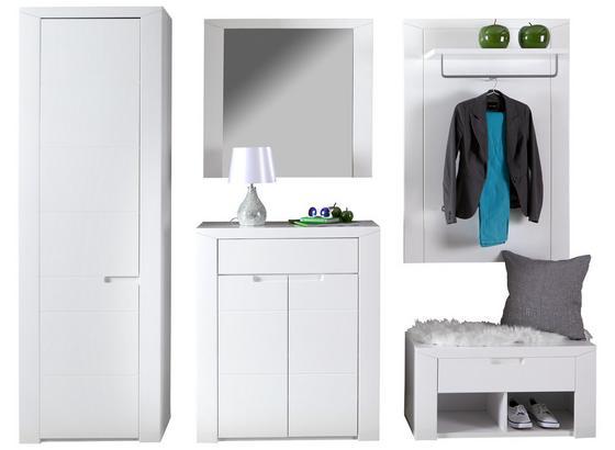 Garderobenkombination Bree 4 - Weiß, MODERN, Karton/Holzwerkstoff (236/203/38cm)