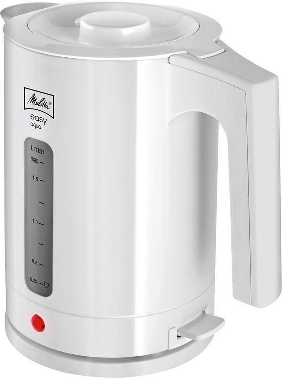 Wasserkocher 211.418 Easy Aqua - Weiß, KONVENTIONELL, Kunststoff (17,6/23/25cm) - Melitta