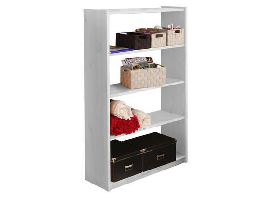 Bücherwand Moni B: 80,5 cm Weiß - Weiß, Basics, Holz (80,5/132/31cm) - Livetastic
