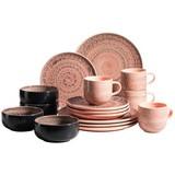 Kombiservice Spicy Market 16-Tlg. - Rosa, Basics, Keramik (26,1/54,3/32,6cm)