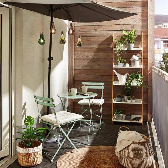 Balkónová Súprava Nice - zelená, kov (//null) - Mömax modern living