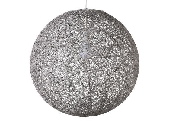 Závesná Lampa Sophia Ø 30cm, 60 Watt - sivá, Štýlový, textil (30cm) - Mömax modern living