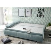Schlafsofa mit Bettfunktion und Bettkasten Norman Webstoff - Blau/Silberfarben, KONVENTIONELL, Holzwerkstoff/Textil (208/95/105cm) - Carryhome