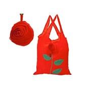 Einkaufstasche Rosendessin - Rot, MODERN, Kunststoff (38/1/58cm)