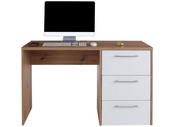Schreibtisch Box - Eichefarben, MODERN, Holzwerkstoff (123,4/73/50cm)