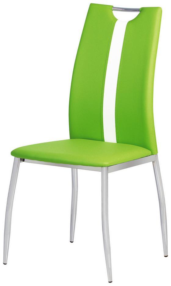 Stolička Viki - zelená, Moderný, umelá hmota/kov (44/97/41cm)