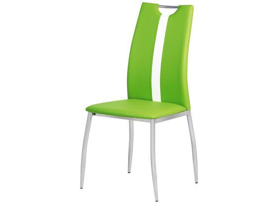 Židle Viki - zelená, Moderní, kov/umělá hmota (44/97/41cm)