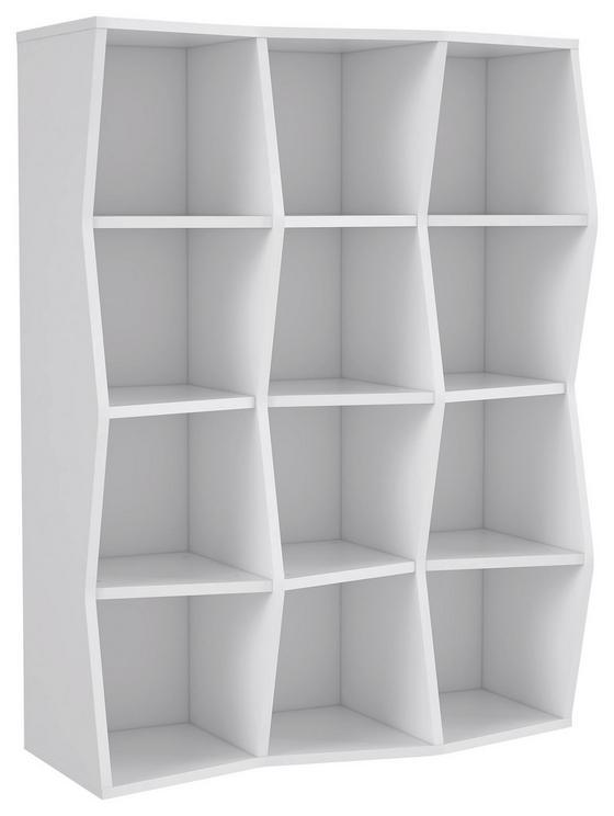 Regál Karpur -exklusiv- - bílá, Moderní, kov/kompozitní dřevo (111/146/43cm)