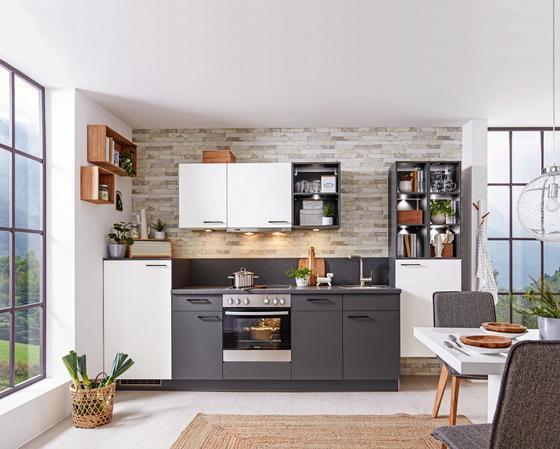 Kuchyňský Blok Win - bílá/antracitová (320cm) - Express