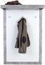 Garderobenpaneel Malta in Betonoptik - Weiß/Grau, MODERN, Holzwerkstoff (94,9/147,7/34cm)