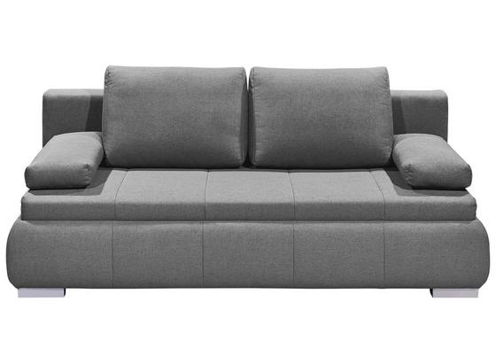 Schlafsofa Norman Lux.3Dl B: ca. 208 cm - Silberfarben/Hellgrau, KONVENTIONELL, Holzwerkstoff/Textil (208/95/105cm) - Carryhome