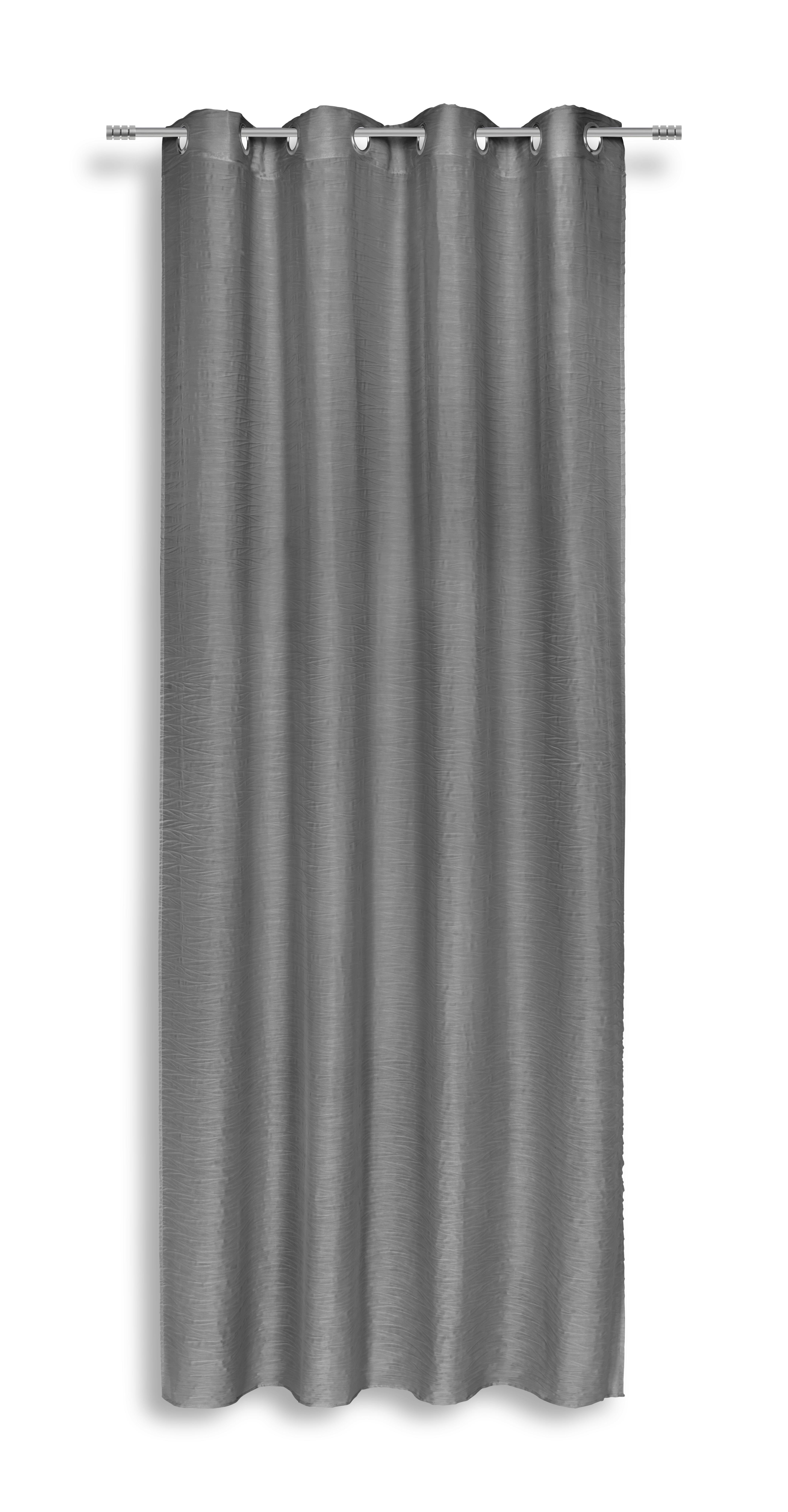Készfüggöny Tina - fekete, modern, textil (140/245cm) - LUCA BESSONI