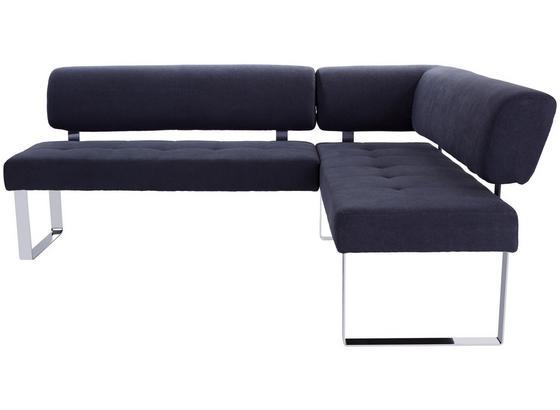 Eckbank Cres - Chromfarben/Grau, MODERN, Holz/Textil (216/177cm)