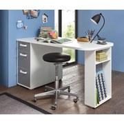 Schreibtischc mit Stauraum B 140cm H 74cm Yoris Grau/Weiß - Weiß/Grau, Design, Holzwerkstoff (140/74/70cm) - Livetastic