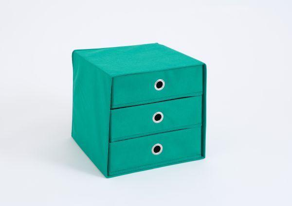Konténer Mega 31 - lila/natúr színek, karton (31,5/32/31,5cm)