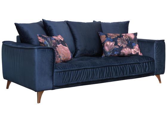Pohovka Belavio - tmavomodrá, Moderný, textil (204/92/106cm)