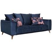 Sofa mit Kissen Belavio Mikrofaser - Dunkelblau/Kupferfarben, MODERN, Textil (204/92cm) - Luca Bessoni