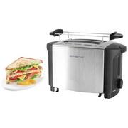 Toaster Emerio TO-108275.1 - Schwarz/Alufarben, MODERN, Kunststoff/Metall (27/15,1/18,3cm)