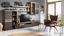 Obývací Stěna Tokio   *cenový Trhák* - barvy dubu/černá, Moderní, kov/kompozitní dřevo (300/201/41cm) - Based