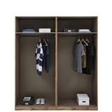 Kleiderschrank Offen 182,2cm Unit, Weiß Dekor - Weiß, MODERN, Holzwerkstoff (182,2/210/56,5cm) - Ombra
