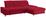 Wohnlandschaft in L-Form Credo ca. 297x200 cm - Chromfarben/Rot, MODERN, Textil (297/200cm)