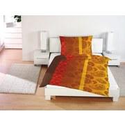 Bettwäsche Emma 140/200cm Rot/Gelb Paisley - Gelb/Rot, MODERN, Textil (140/200cm)