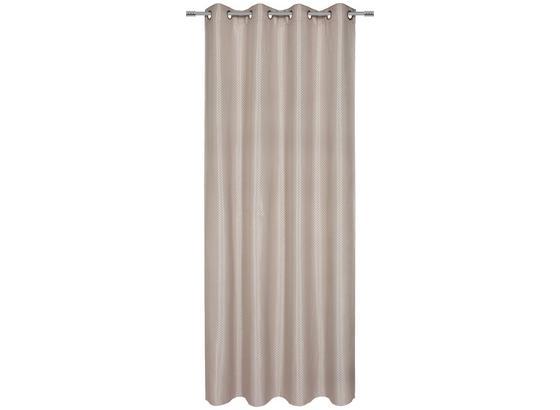 Vorhang mit Ösen Stella B: 140cm, Beige - Beige, ROMANTIK / LANDHAUS, Textil (140/245cm) - James Wood