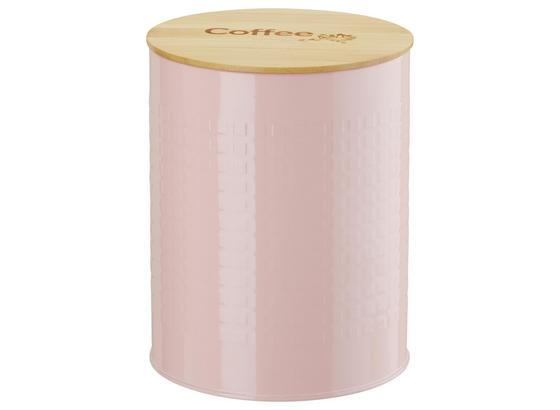 Dóza Na Potraviny Stella - růžová/přírodní barvy, Romantický / Rustikální, kov/dřevo (13,5/17,5cm) - Zandiara
