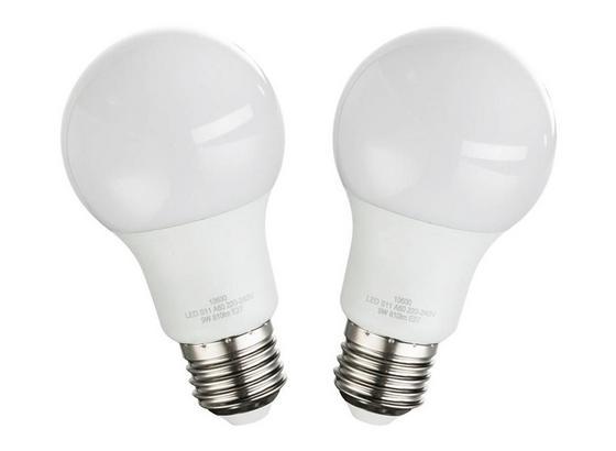 Led Žiarovka 2 Ks/bal. 10600-2, E27, 9 Watt - opál, kov/plast (6/11cm)