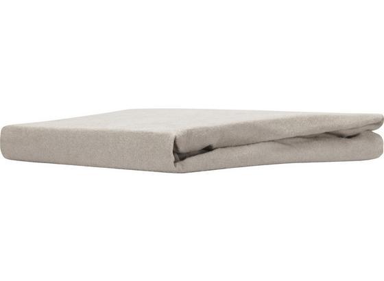 Spannleintuch Regina - Taupe, KONVENTIONELL, Textil (180/200cm) - Ombra