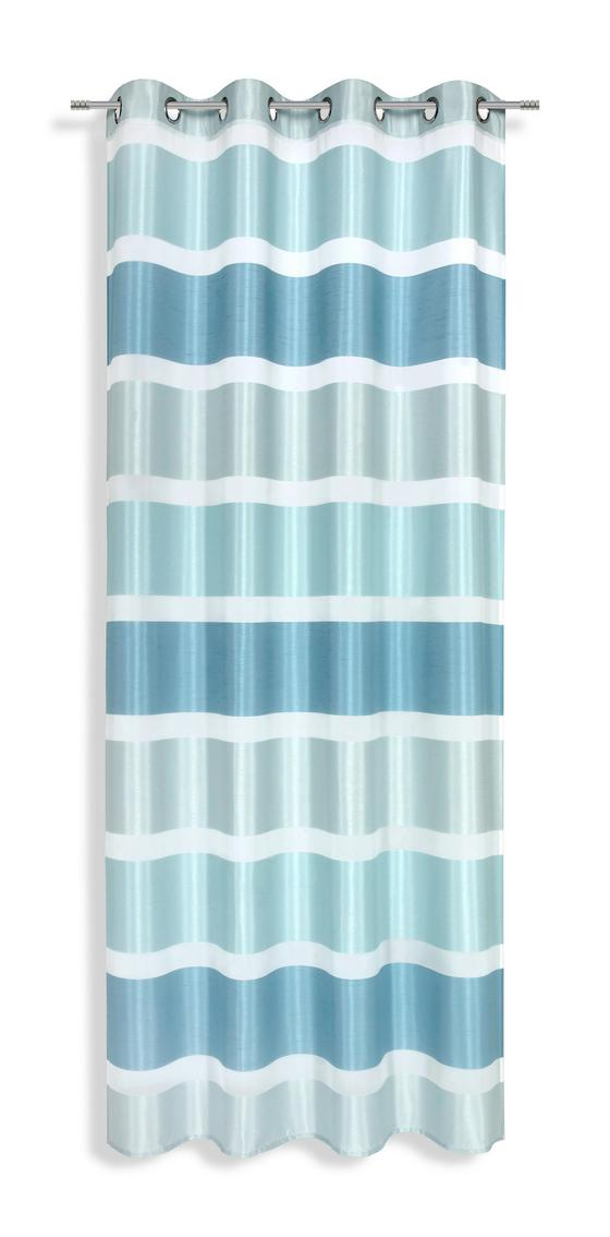 Ösenvorhang Melanie - Blau/Weiß, MODERN, Textil (140/245cm) - Luca Bessoni