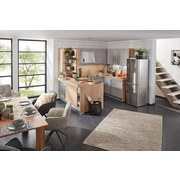 Vstavaná Kuchyňa Toronto - hliníkové farby/sivá, Moderný, kompozitné drevo (270/177,5cm)