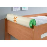 Nackenrolle Grün/Orange/Beige - Beige/Orange, Design, Textil (80/16/16cm) - Livetastic