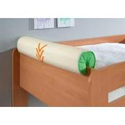 Nackenrolle Grün/orange/beige - Beige/Orange, Design, Textil (80/16/16cm)
