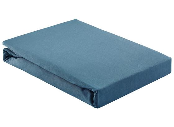 Napínacie Prestieradlo Basic - tmavomodrá, textil (180/200cm) - Mömax modern living