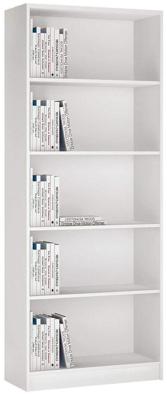 Polc 4-you - fehér, modern, fa (74/189,5/35,2cm)