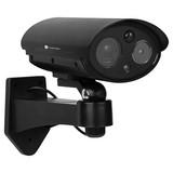 Überwachungskamera Attrappe mit LED- und  Blitzlicht - Schwarz, MODERN, Kunststoff (8,6/14,8/19,8cm)
