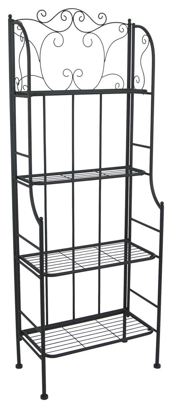 Regál Shelf - černá, Moderní, kov (60/158/31,5cm)
