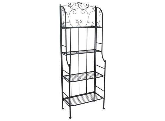 Regal Shelf - Schwarz, MODERN, Metall (60/158/31,5cm)