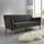 Pohovka Patrick - sivá, Moderný, drevo/textil (200/84/84cm) - Modern Living