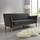 Pohovka Patrick - tmavosivá, Moderný, drevo/textil (200/84/84cm) - Modern Living