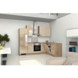Küchenblock Nepal 280 cm Cremefarben - Kaschmir/Weiß, MODERN, Holzwerkstoff (280cm) - MID.YOU