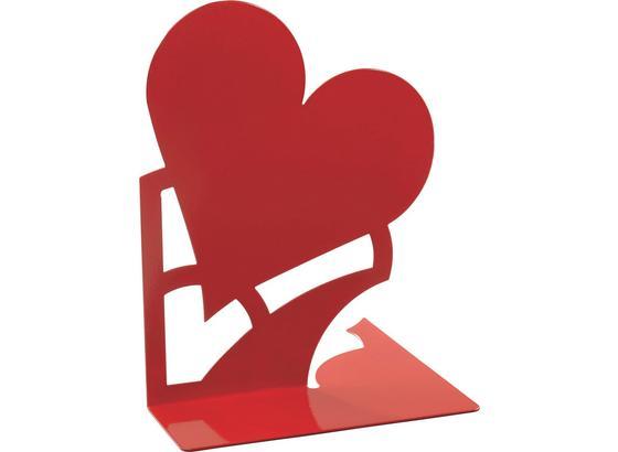 Držiak Na Knihy Mon Amour - červená, kov (14,6/19/14,5cm)