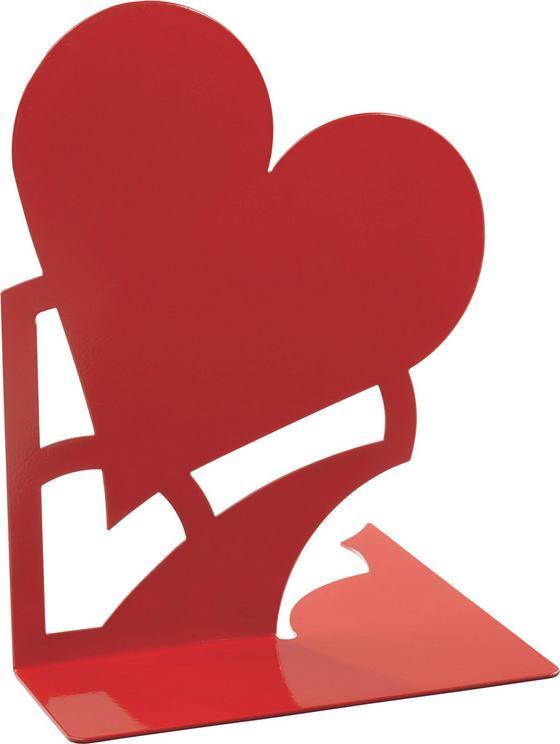 Podpěra Na Knihu Mon Amour - červená, kov (14,6/19/14,5cm)