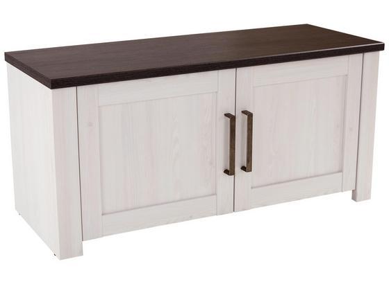 Šatní Lavice Provence - bílá/barvy wenge, Moderní, kompozitní dřevo (116/49/42cm) - James Wood