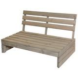 Gartenbank Fichtenholz 2-Sitzer, Palettenoptik - Fichtefarben/Braun, Basics, Holz (120/76,5/93,5cm)