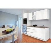 Küchenblock Premium B: 270 cm Weiß Matt - Weiß/Braun, MODERN, Holzwerkstoff (270cm) - MID.YOU