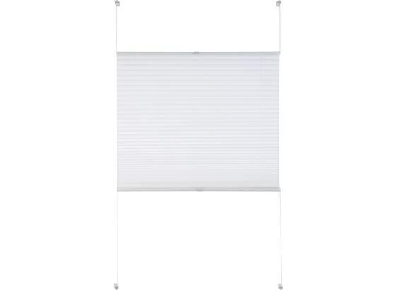 Plisé Free, 60/130cm, Bílá - bílá, textil (60/130cm) - Premium Living