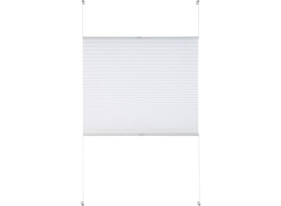 Plisé Free, 80/130cm, Bílá - bílá, textil (80/130cm) - Premium Living